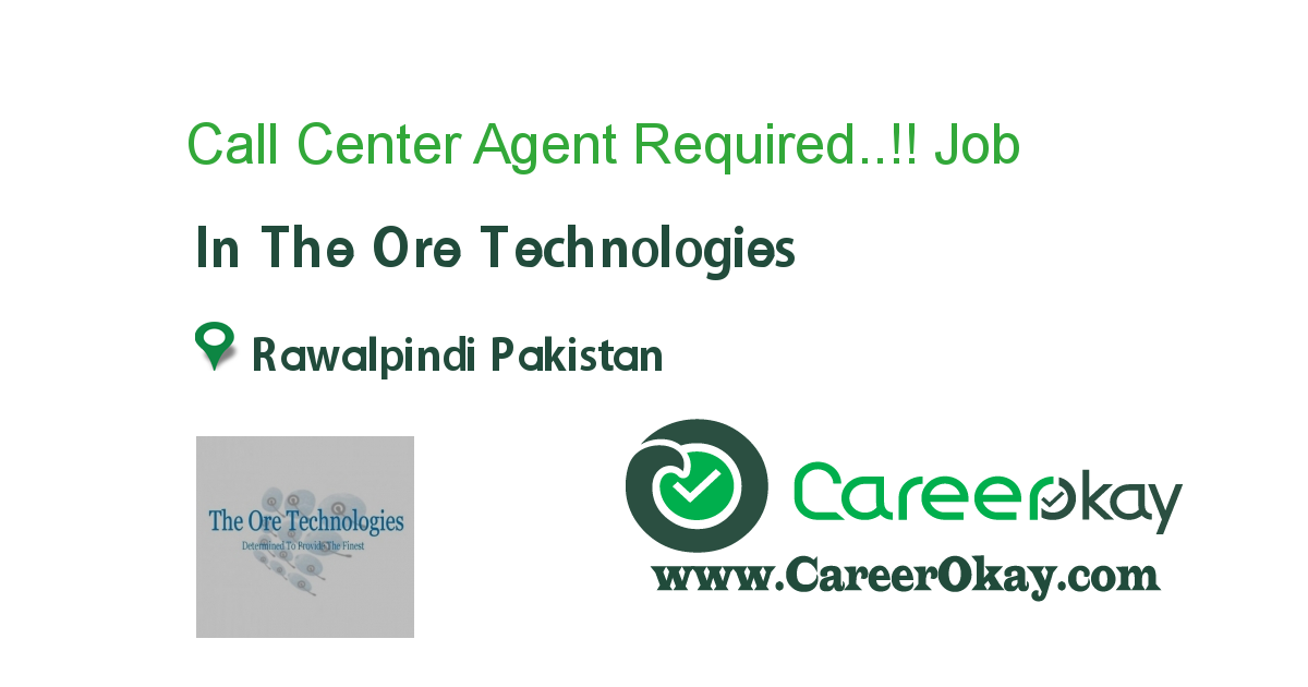Call Center Agent Required..!!