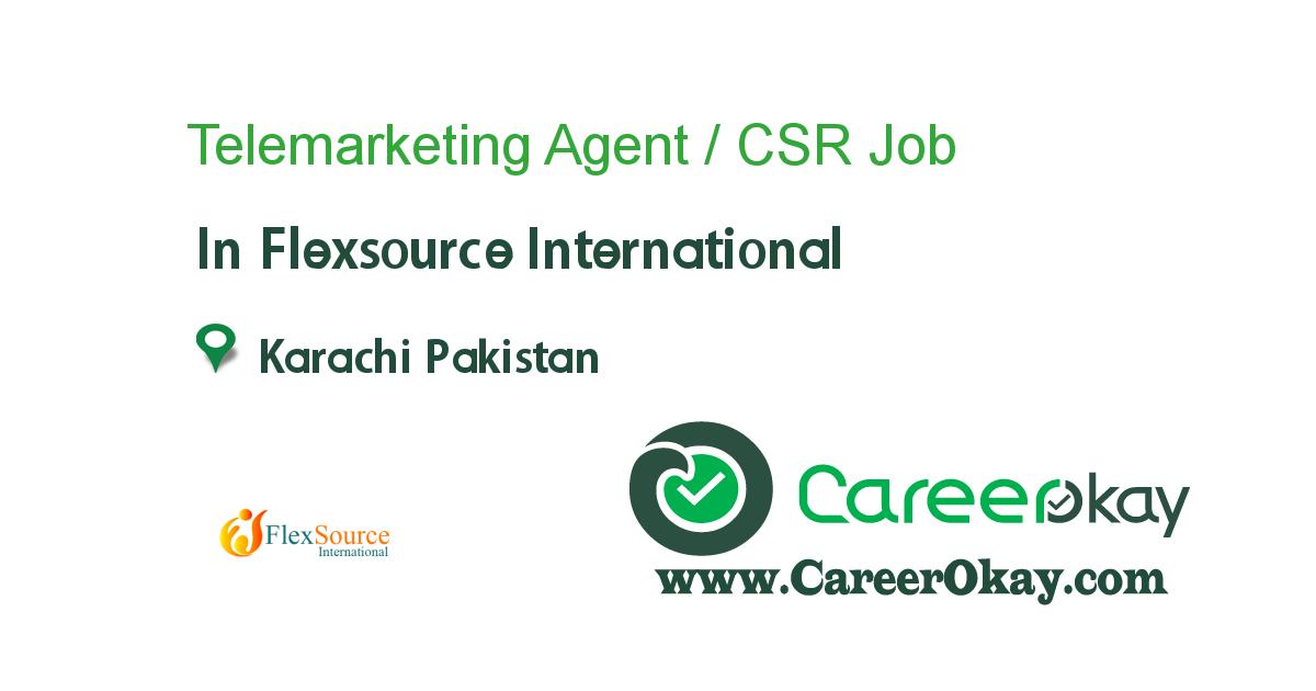 Telemarketing Agent / CSR