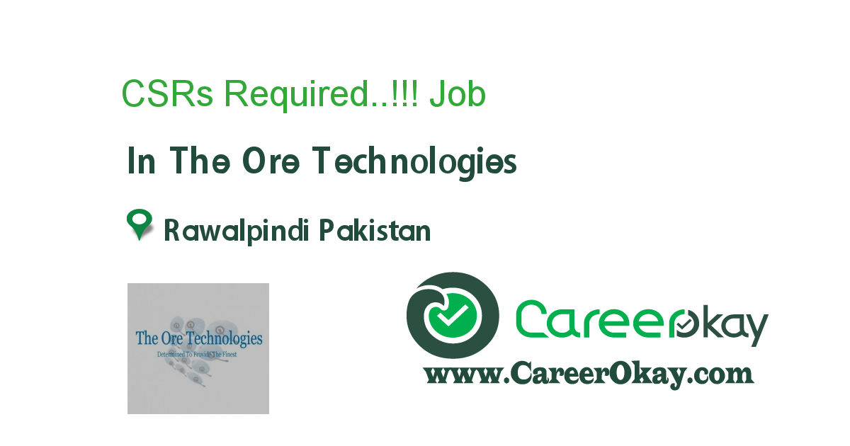 CSRs Required..!!!