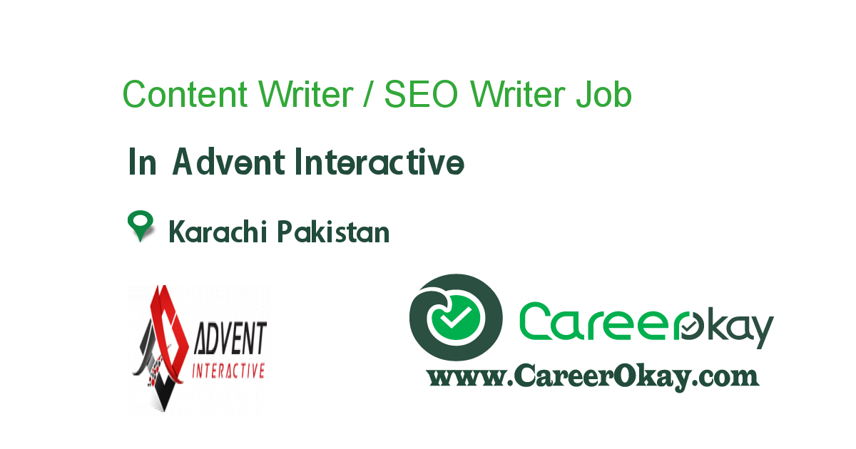 Content Writer / SEO Writer