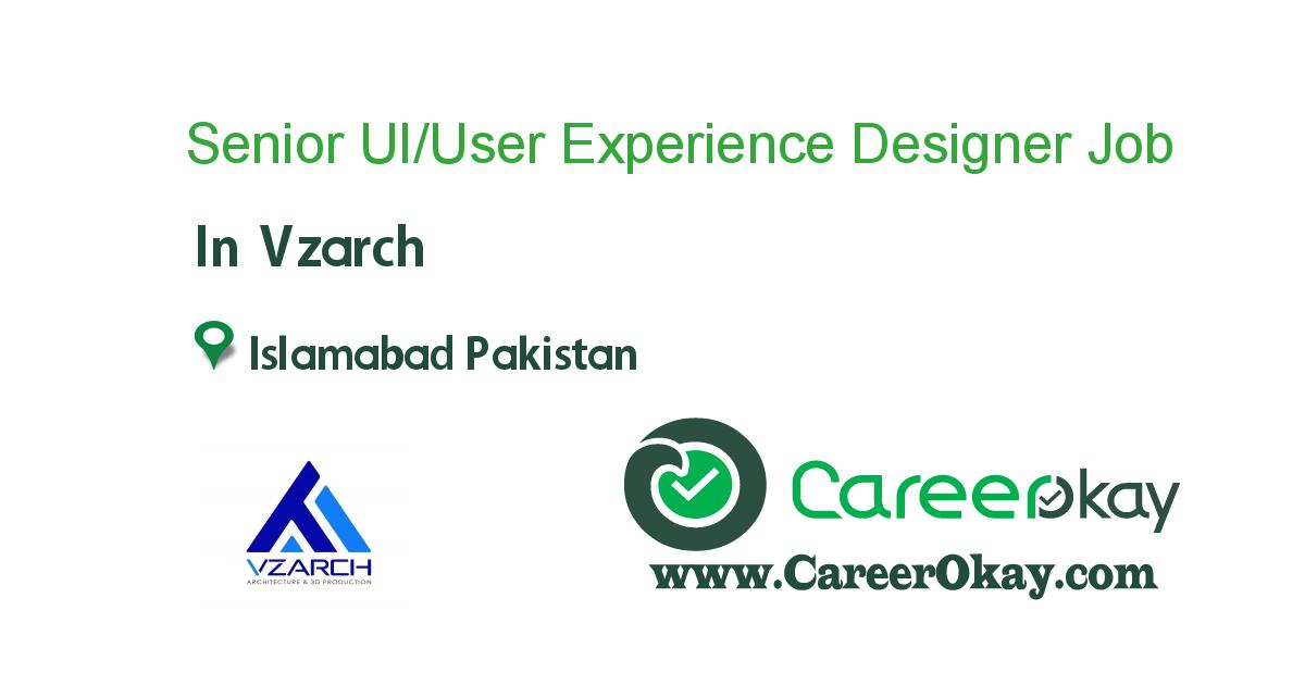 Senior UI/User Experience Designer