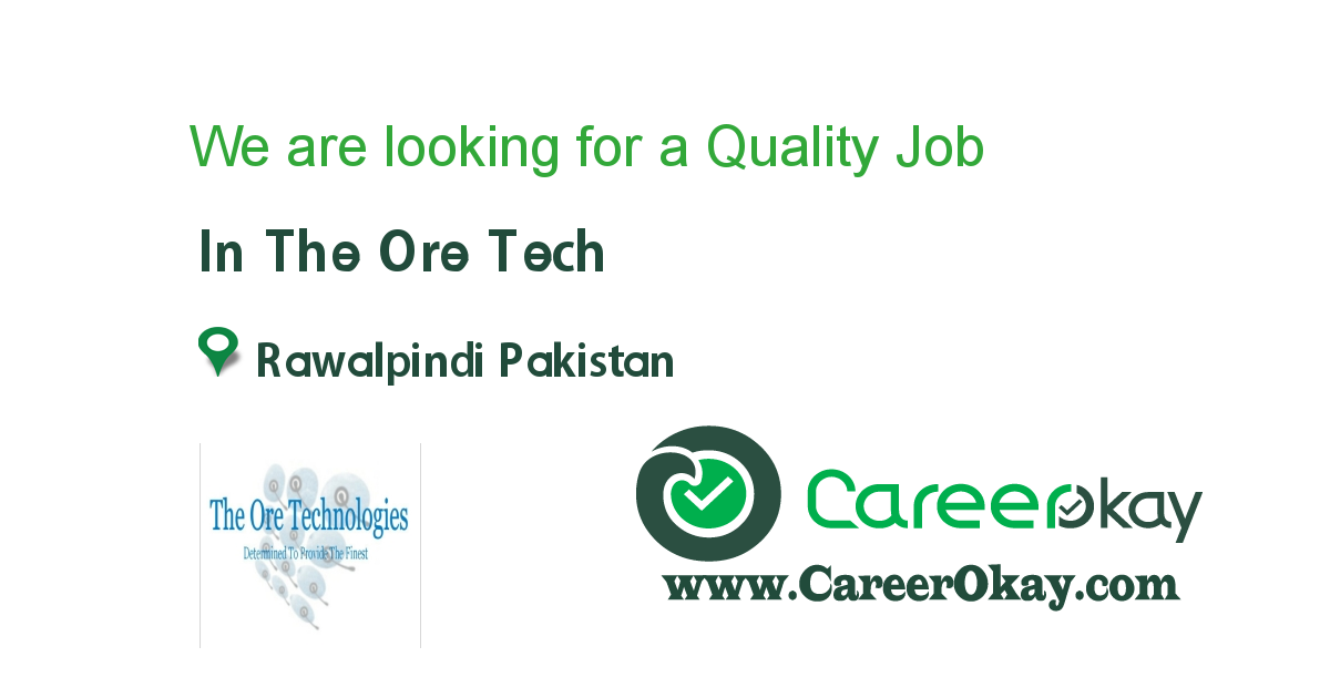 We are looking for a Quality Assurance..!!