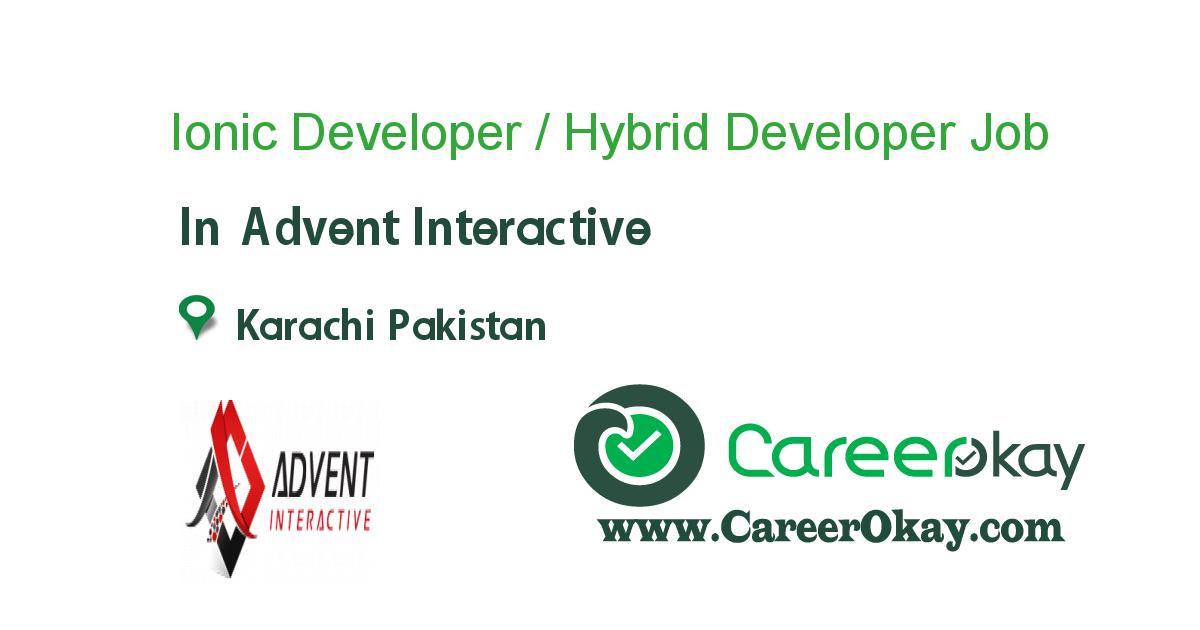 Ionic Developer / Hybrid Developer
