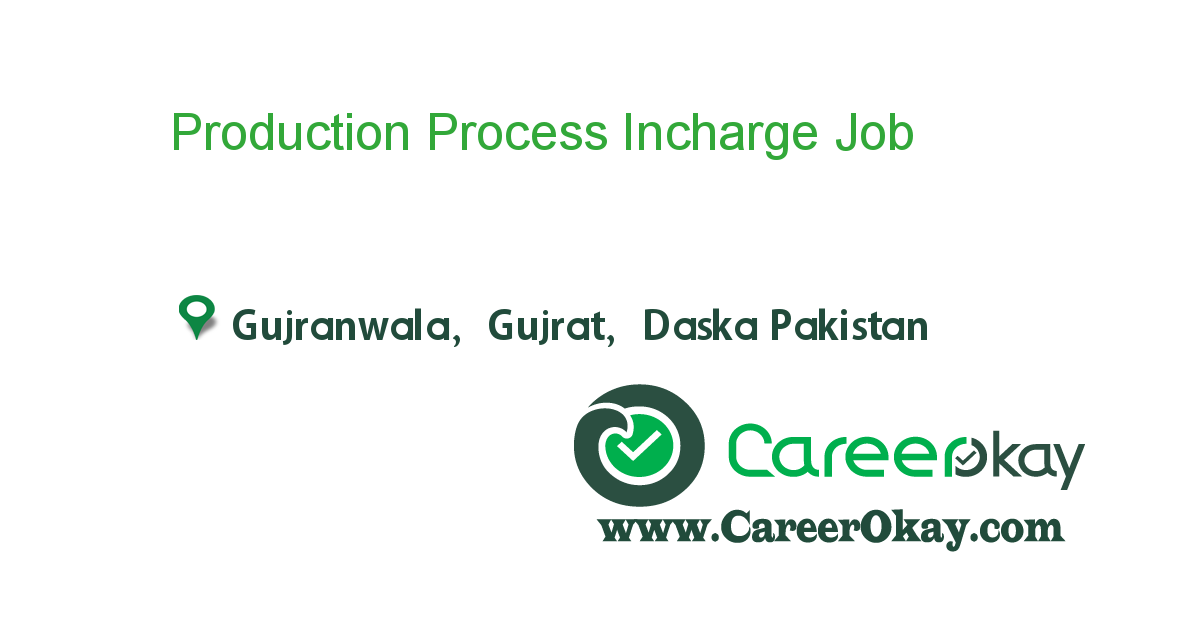 Production Process Incharge