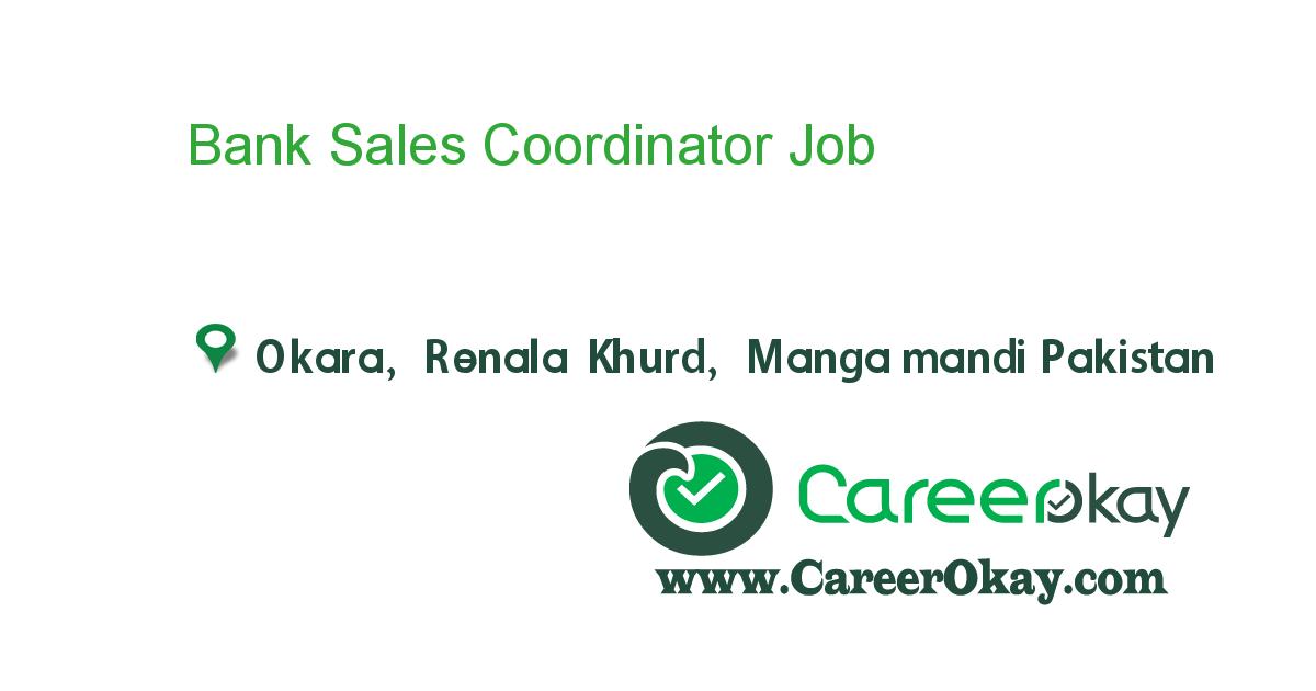 Bank Sales Coordinator