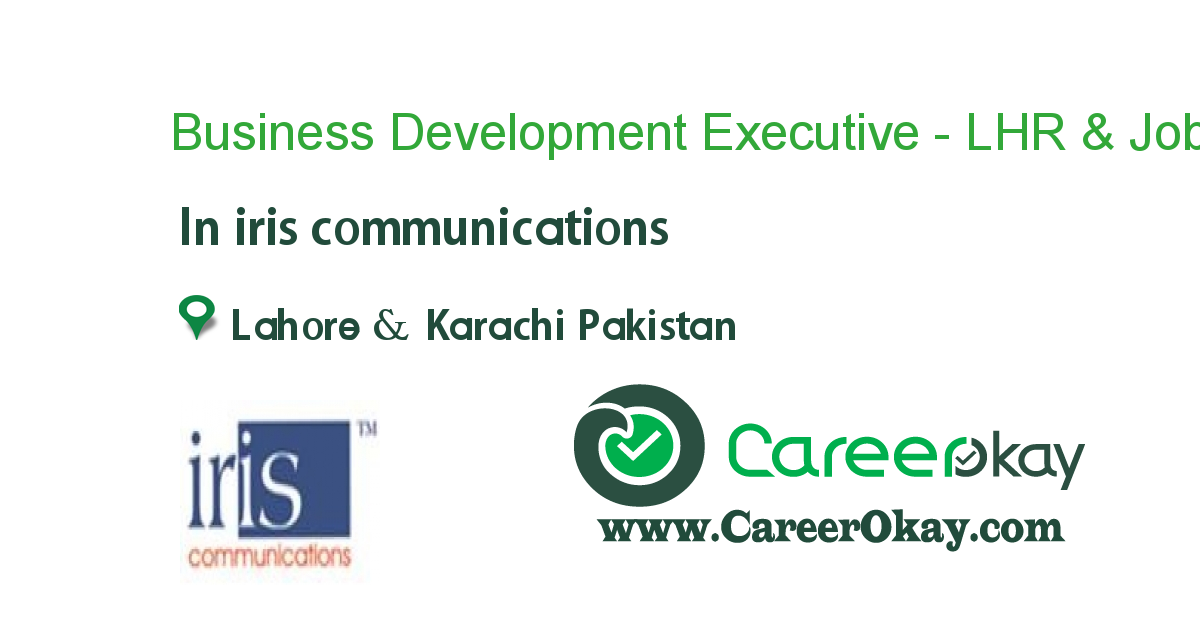 Business Development Executive - LHR & KHI