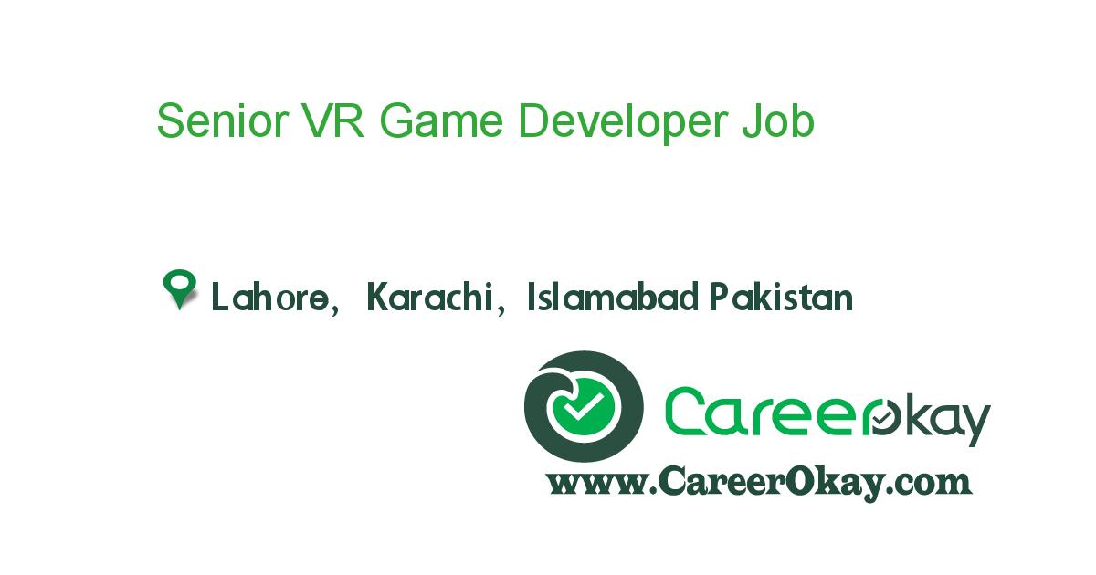 Senior VR Game Developer