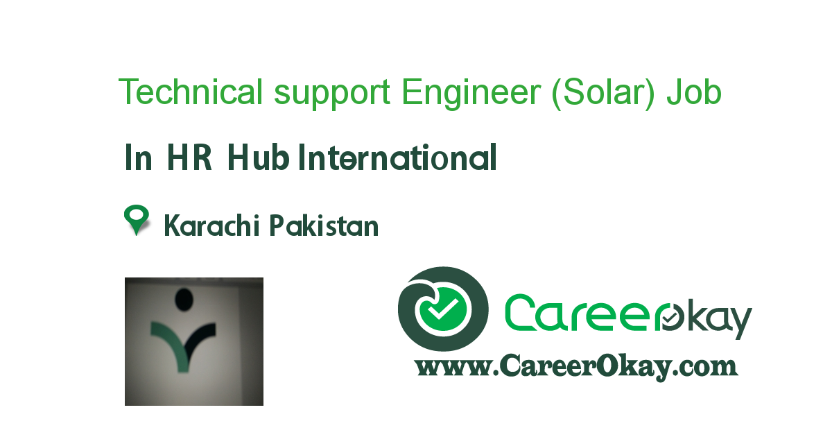 Technical support Engineer (Solar)