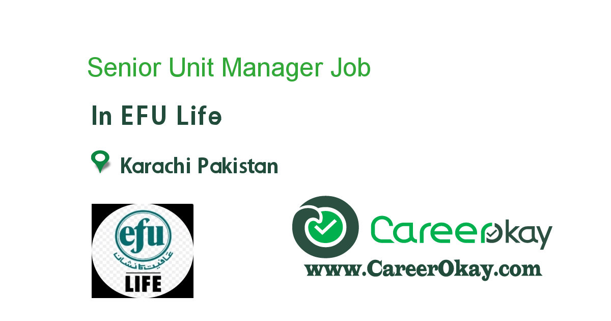Senior Unit Manager