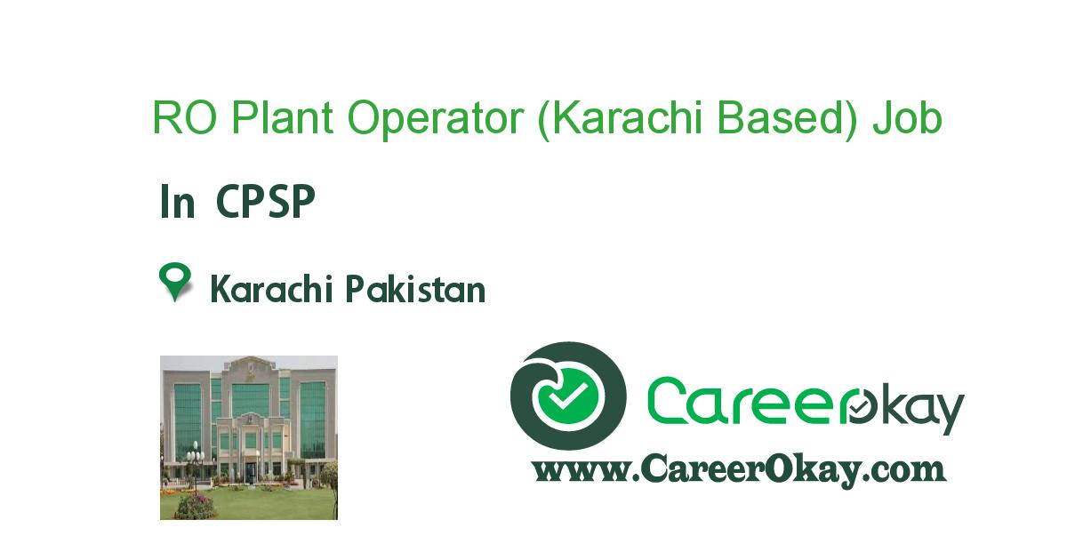 RO Plant Operator (Karachi Based)