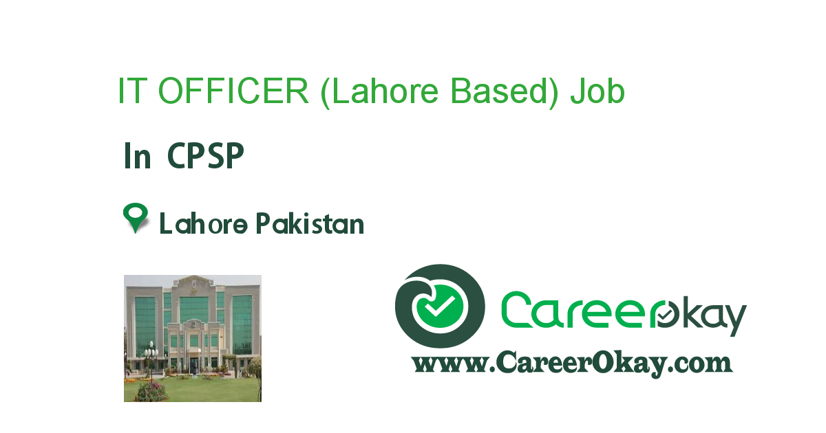 IT OFFICER (Lahore Based)