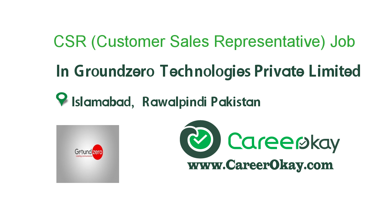 CSR (Customer Sales Representative)