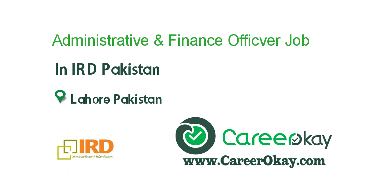 Administrative & Finance Officver