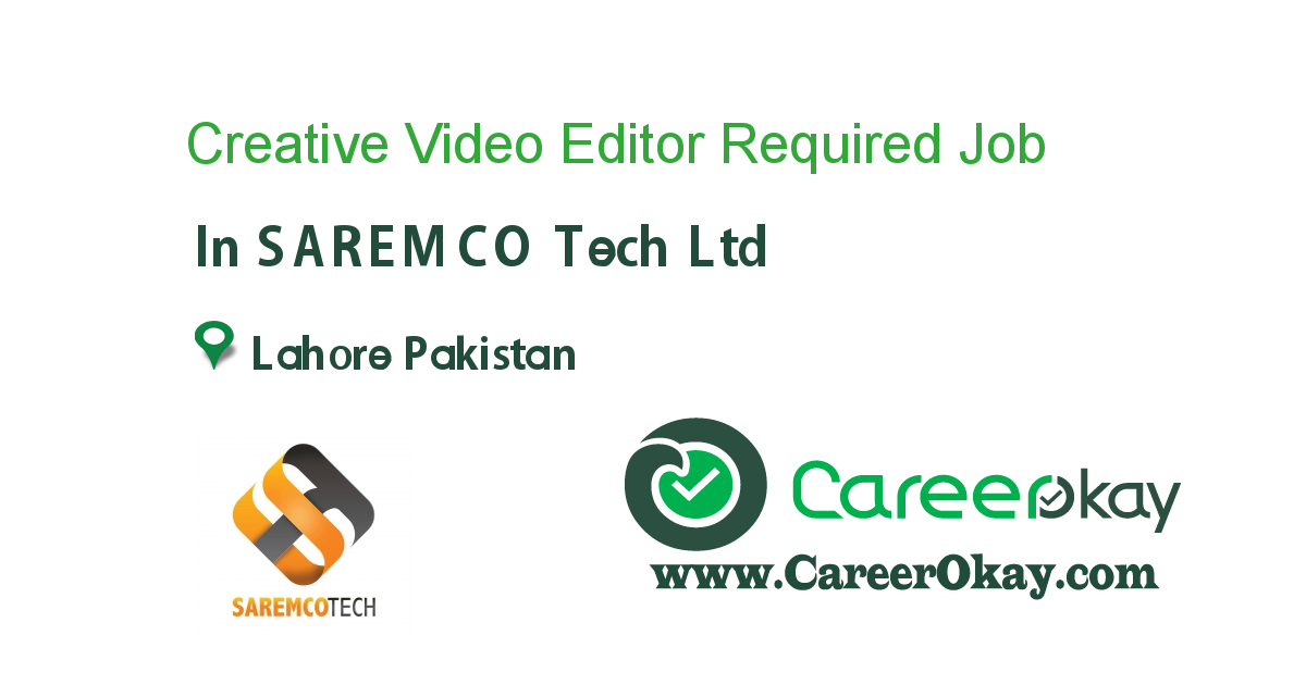 Creative Video Editor Required