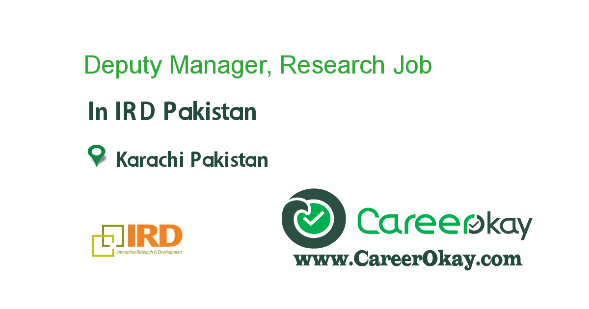 Deputy Manager, Research