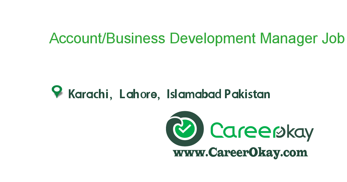 Account/Business Development Manager