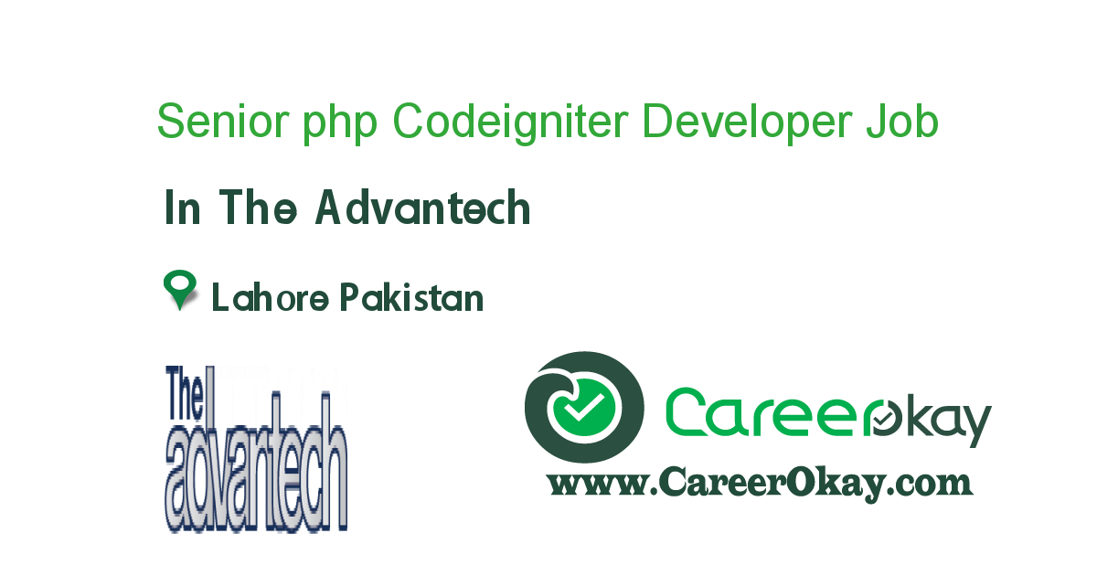 Senior php Codeigniter Developer