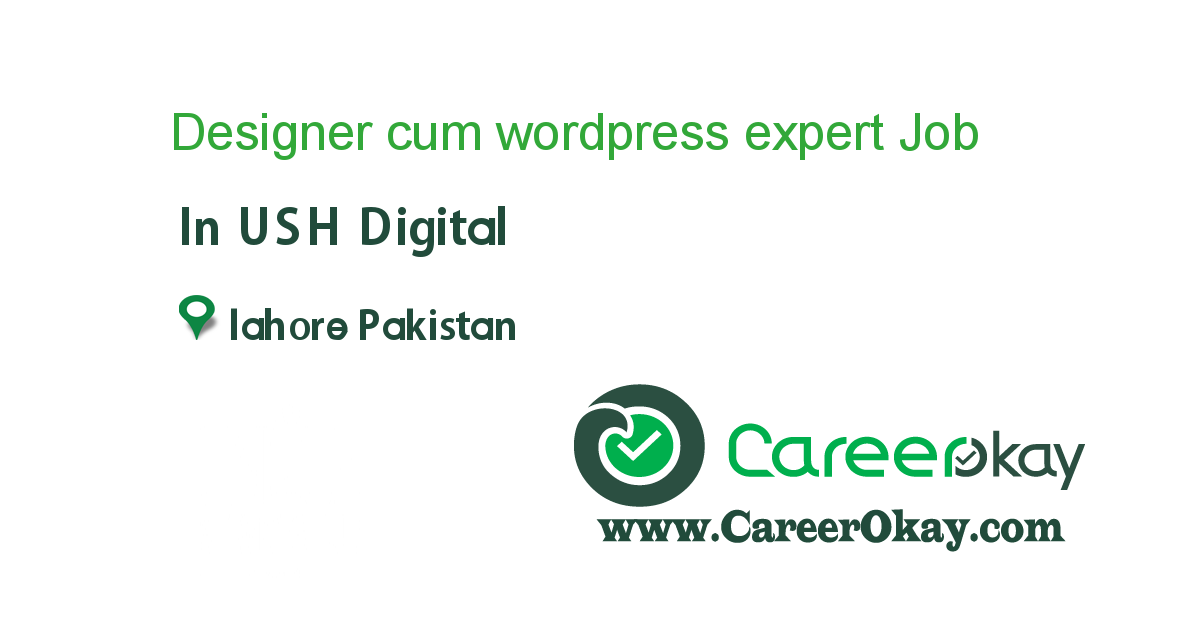 Designer cum wordpress expert