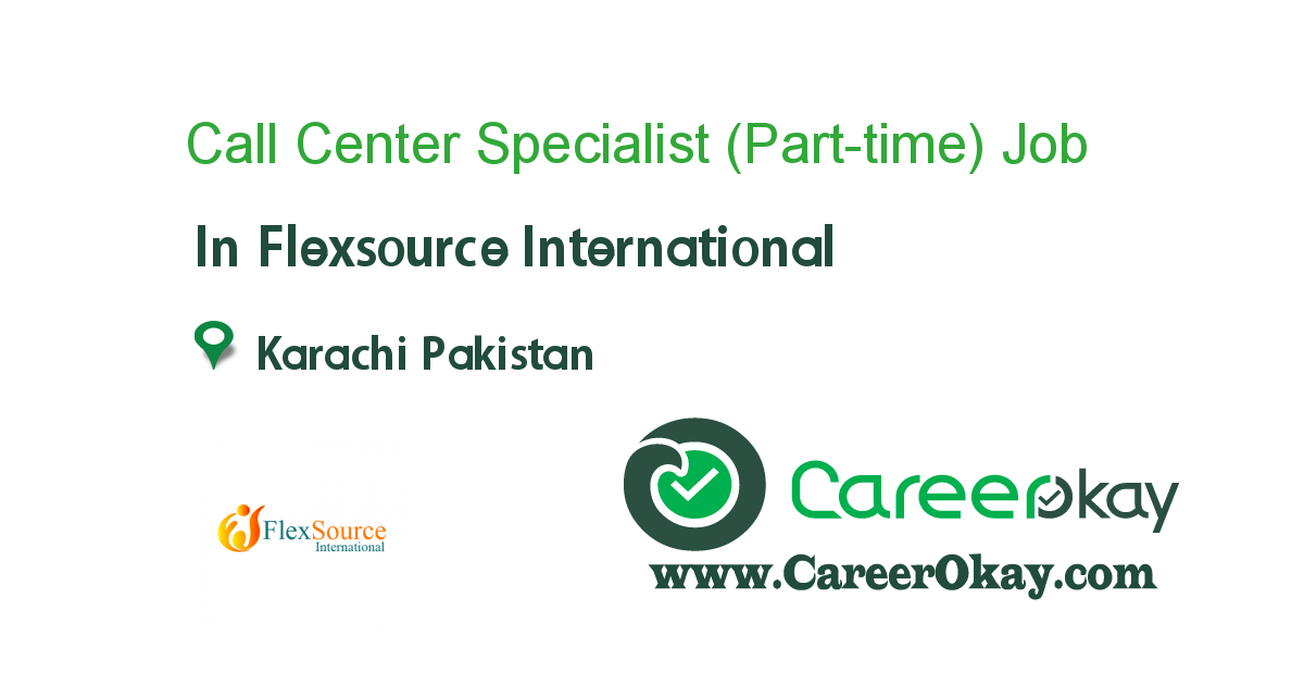 Call Center Specialist (Part-time)