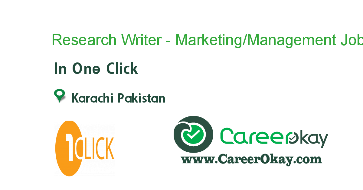Research Writer - Marketing/Management