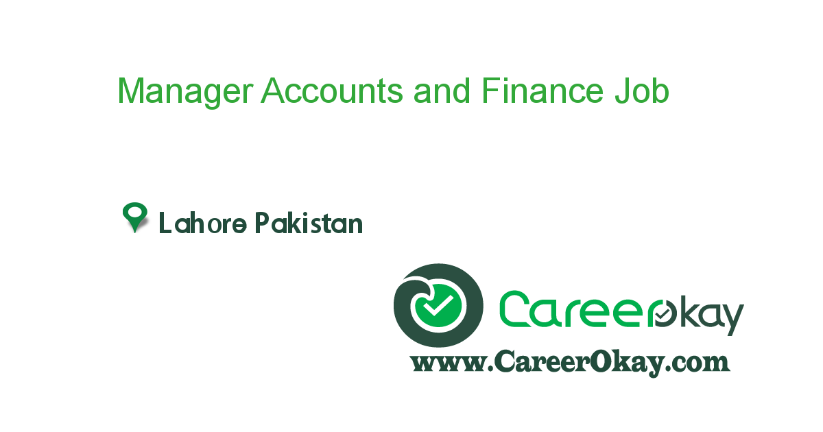 Manager Accounts and Finance