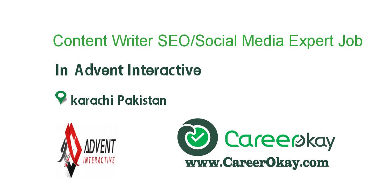 Content Writer SEO/Social Media Expert