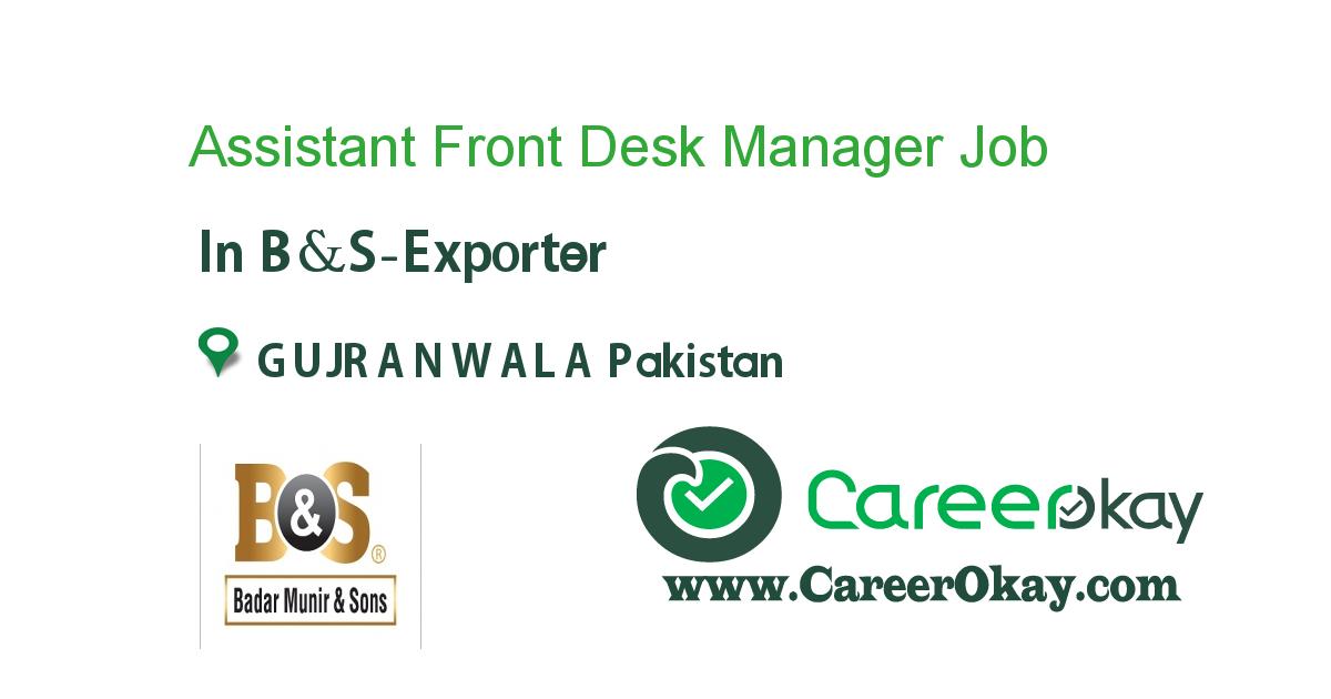 Assistant Front Desk Manager