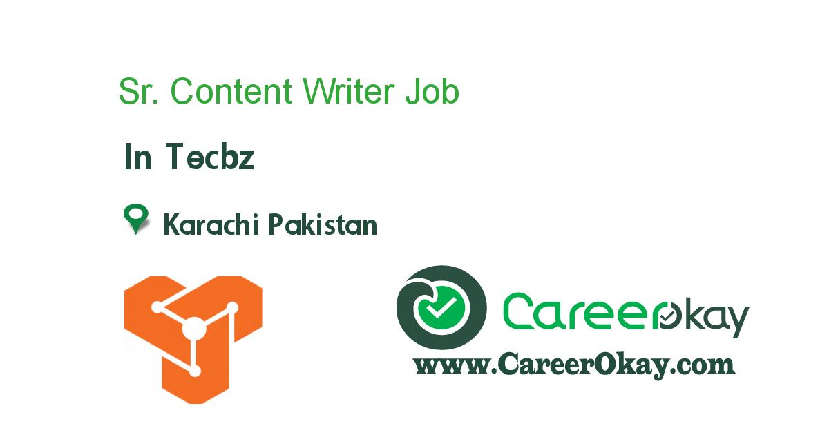 Sr. Content Writer