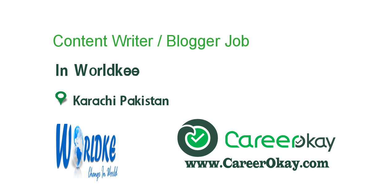 Content Writer / Blogger