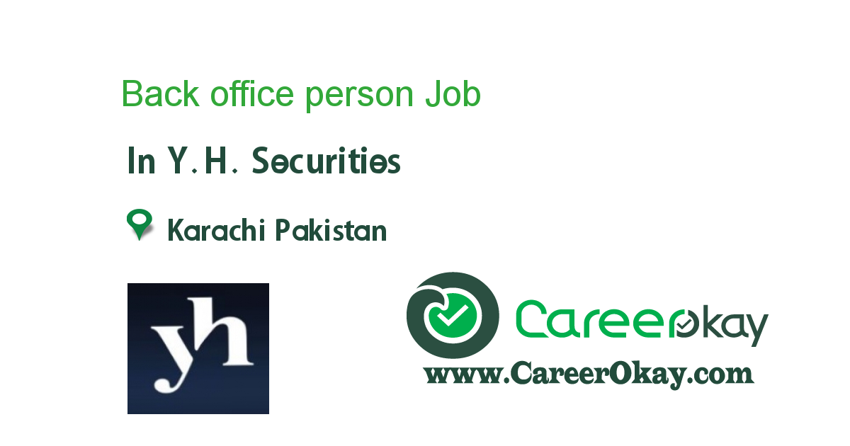 Back office person