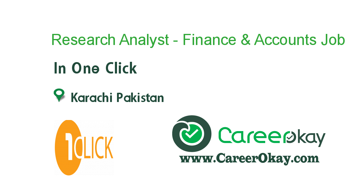 Research Analyst - Finance & Accounts