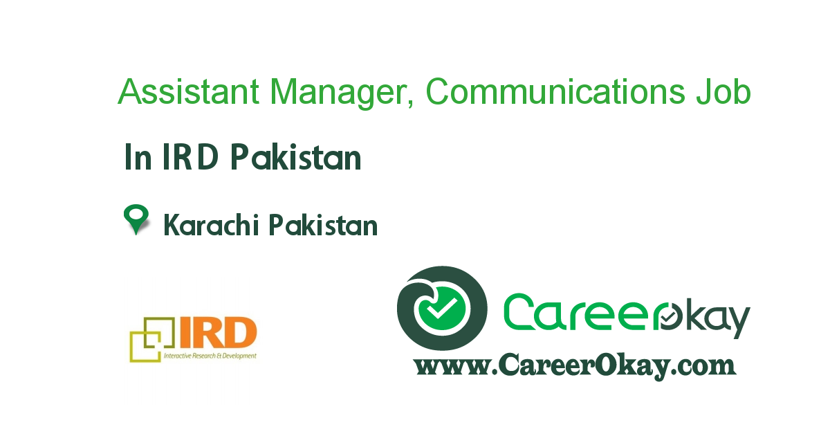 Assistant Manager, Communications