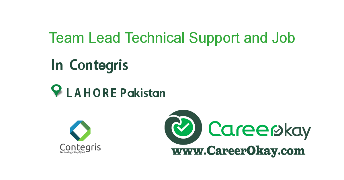 Team Lead Technical Support and Engineering