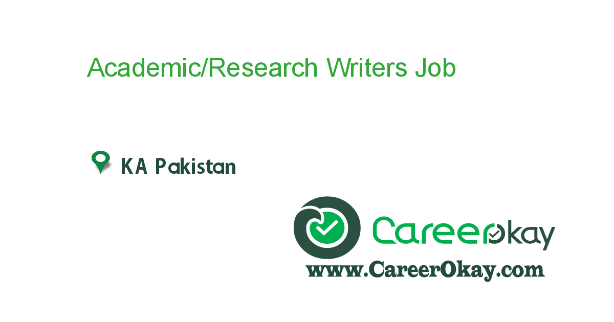 Academic/Research Writers