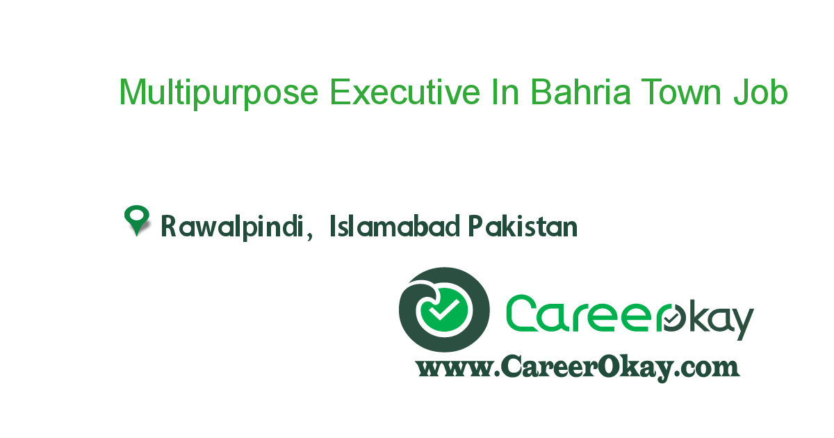 Multipurpose Executive In Bahria Town Humak Area Islamabad