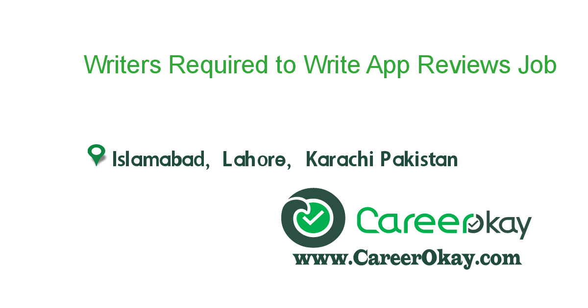 Writers Required to Write App Reviews
