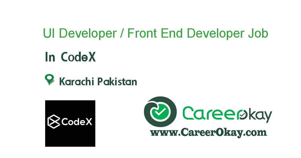 UI Developer / Front End Developer