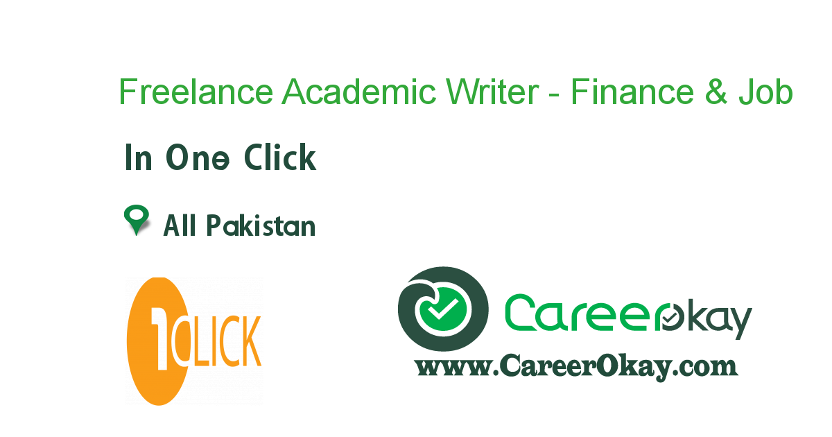 Freelance Academic Writer - Finance & Accounts