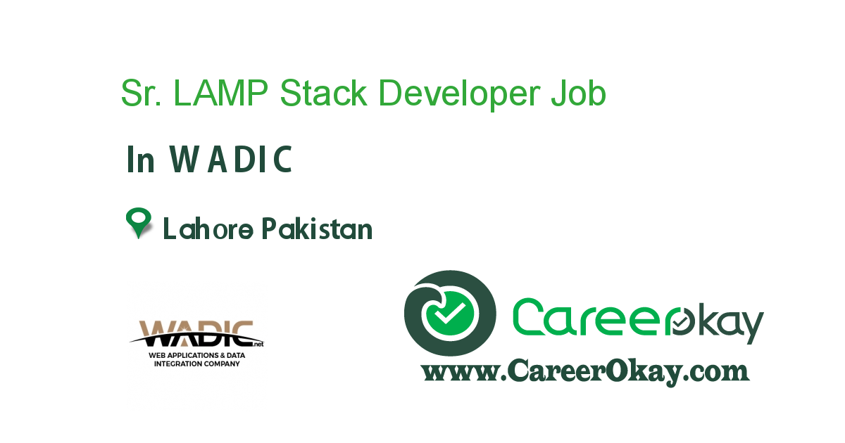 Sr. LAMP Stack Developer