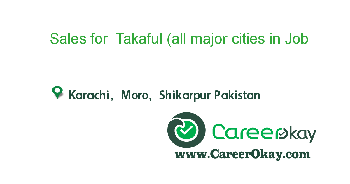 Sales for Takaful (all major cities in Sindh)