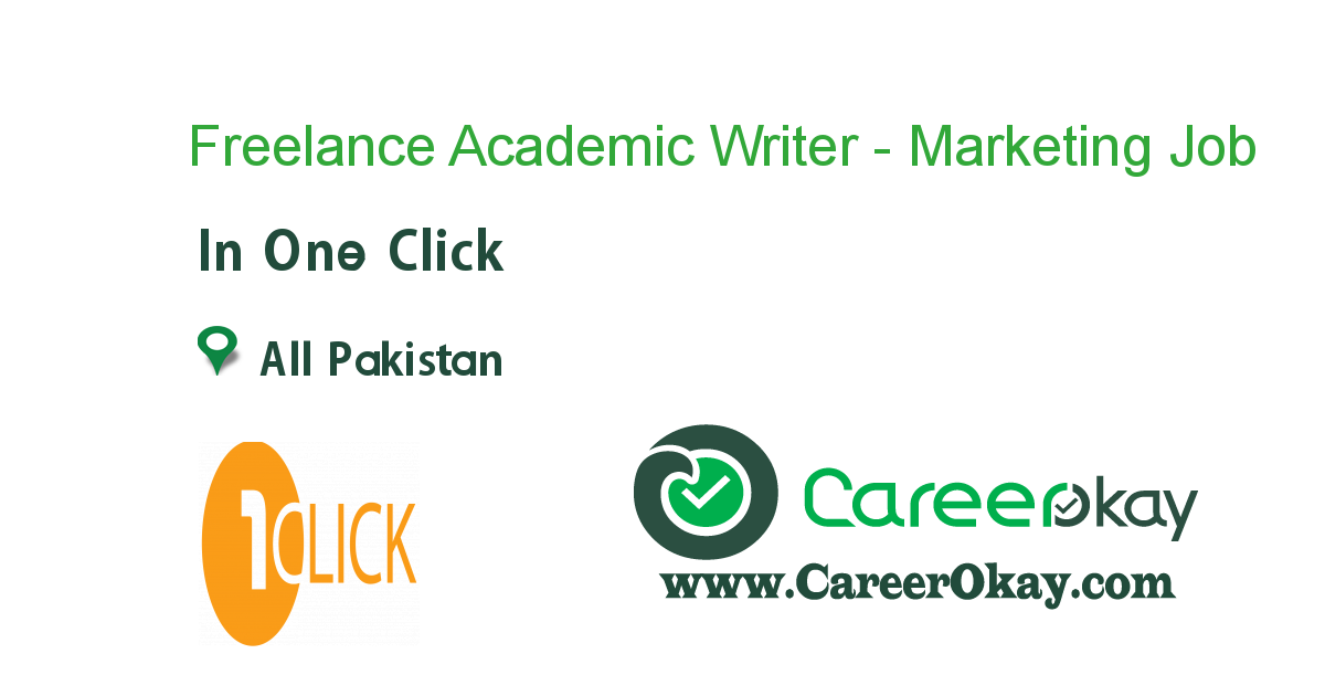 Freelance Academic Writer - Marketing