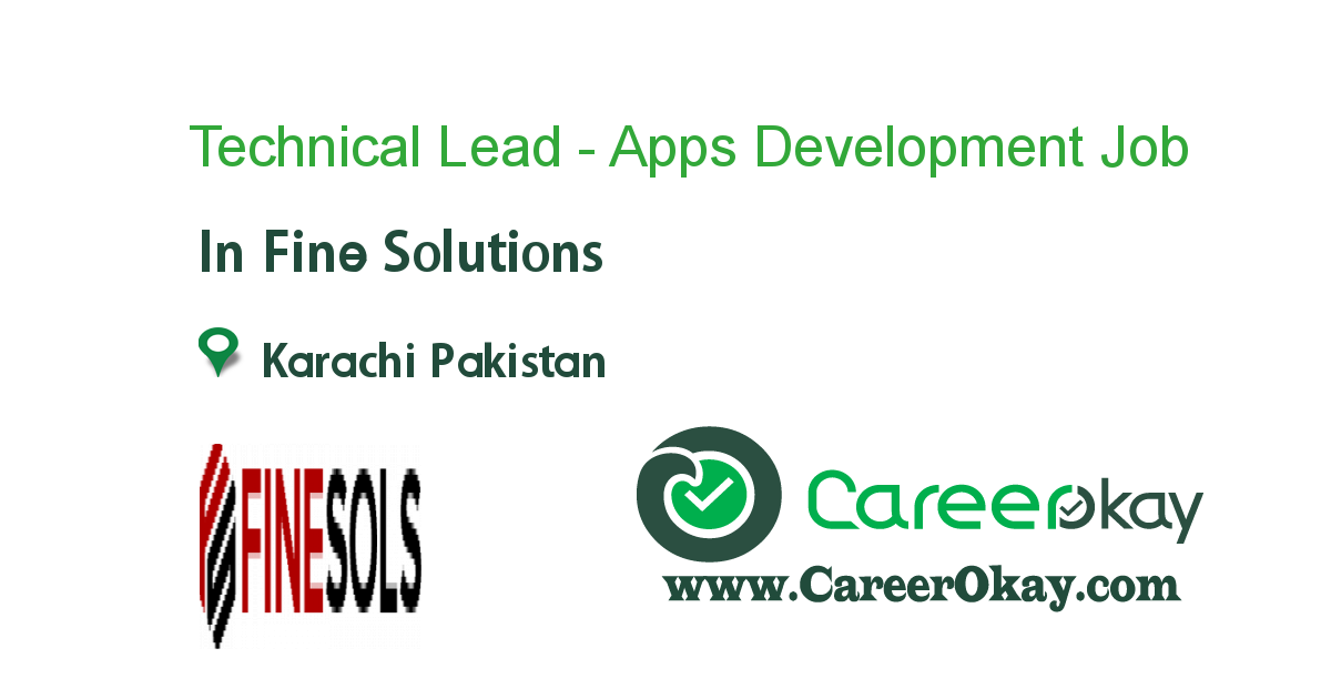 Technical Lead - Apps Development