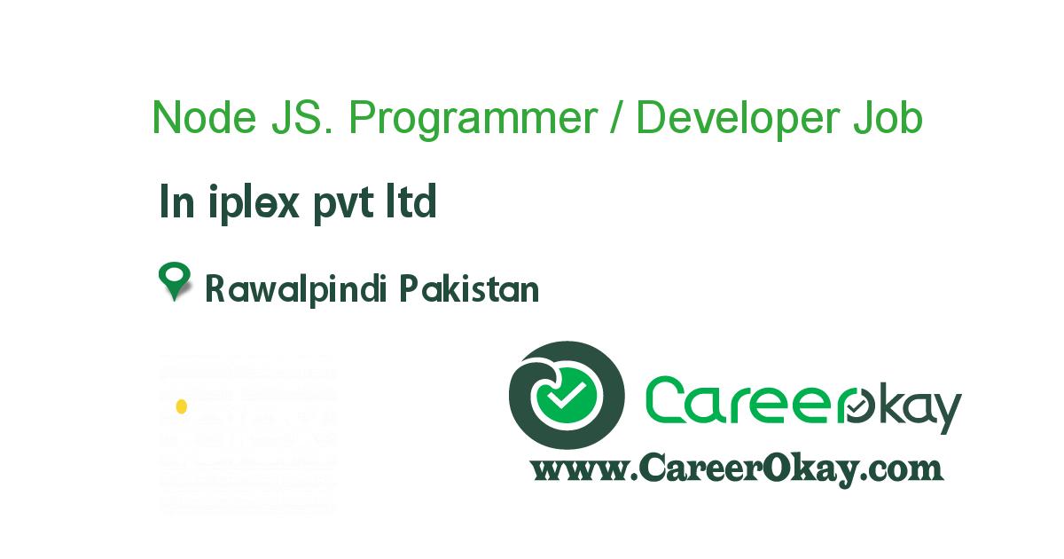 Node JS. Programmer / Developer