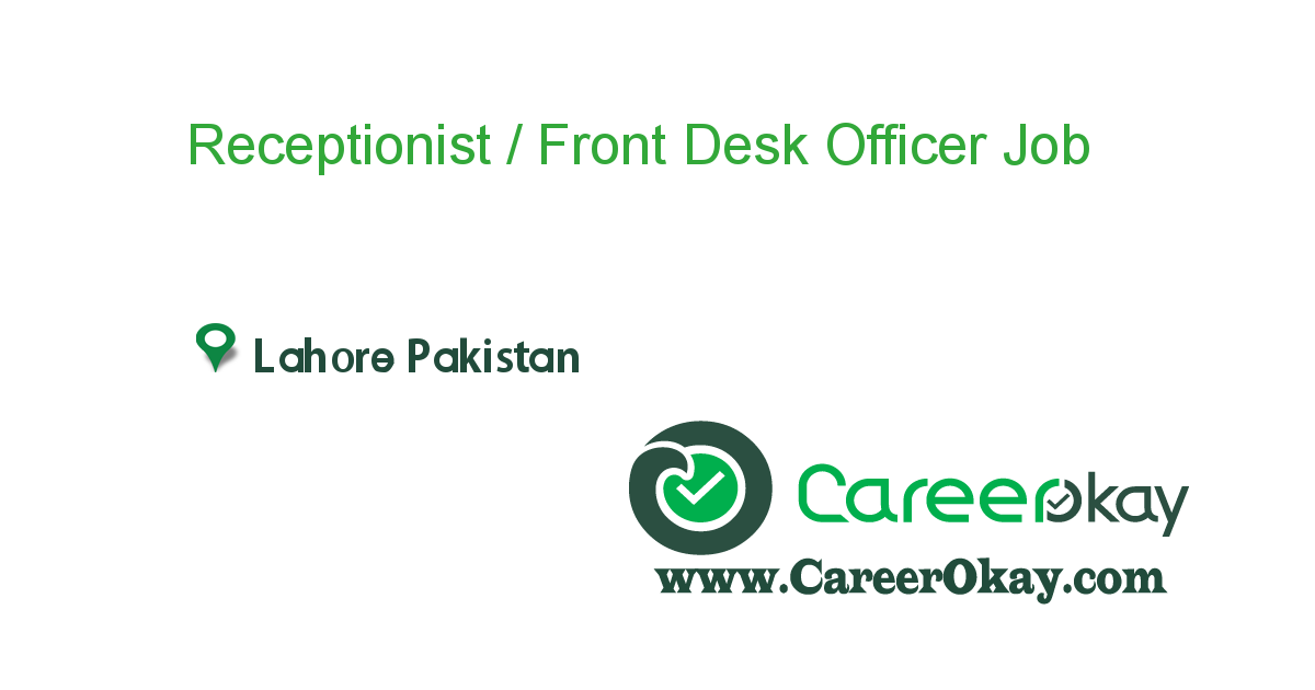 Receptionist / Front Desk Officer