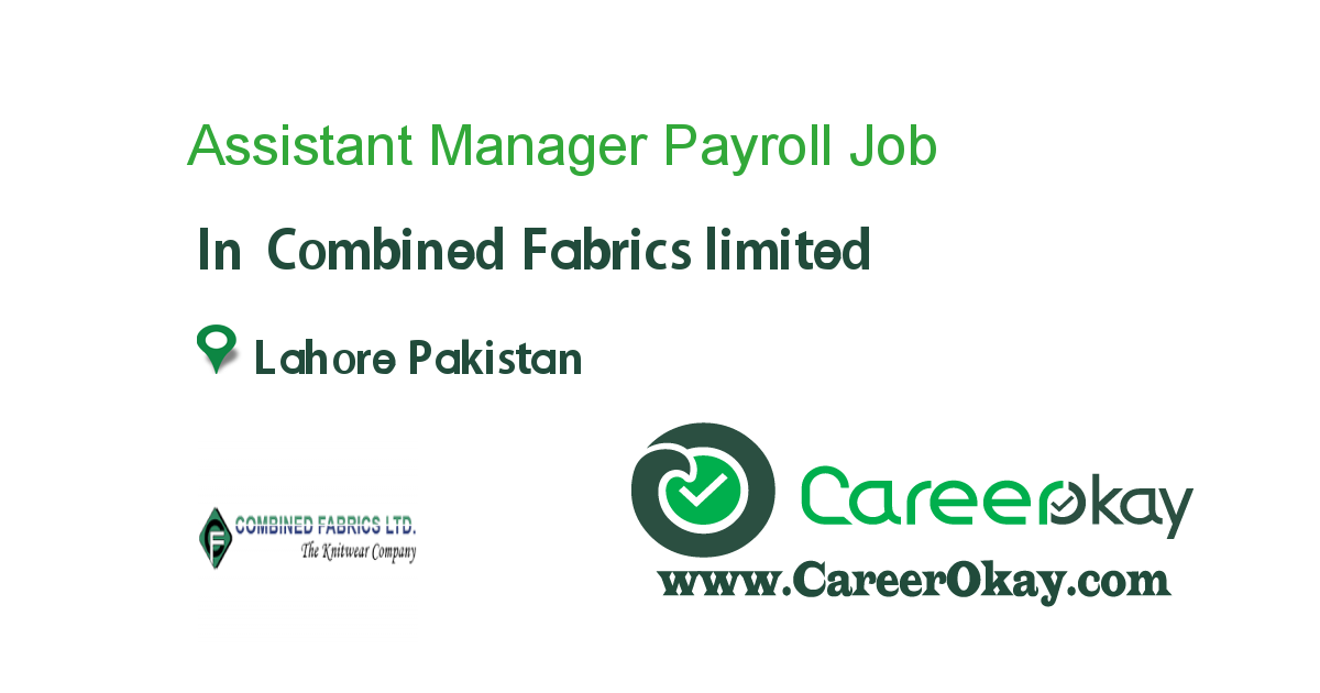 Assistant Manager Payroll