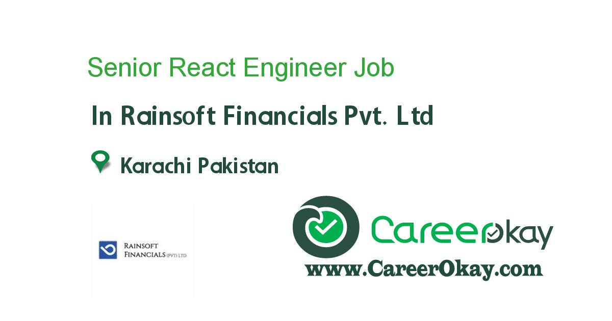 Senior React Engineer