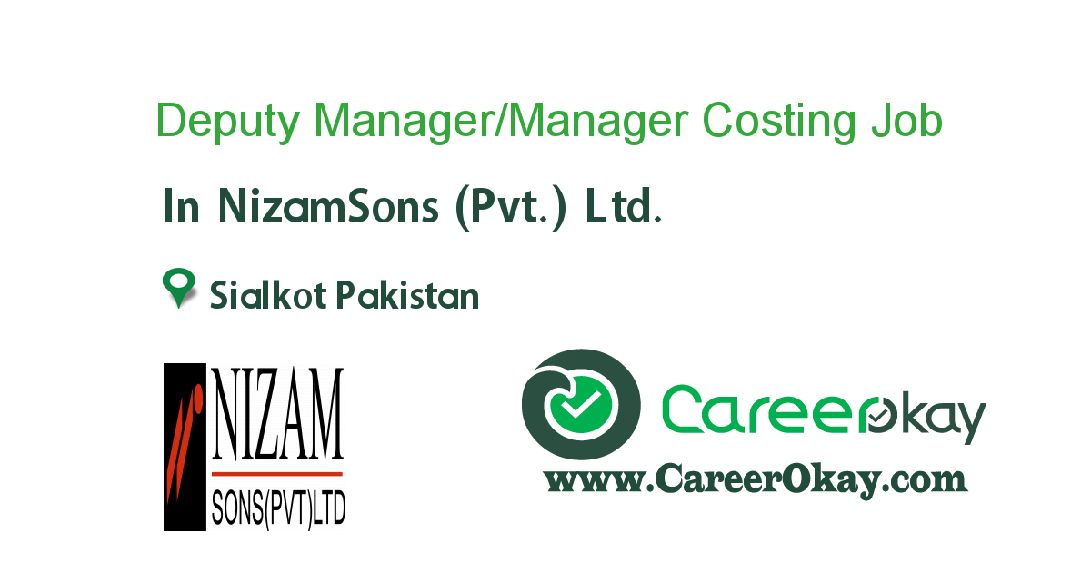Deputy Manager/Manager Costing