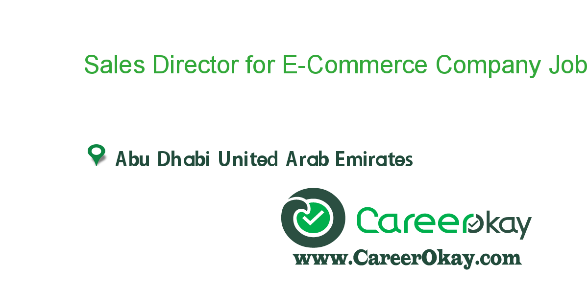 Sales Director for E-Commerce Company