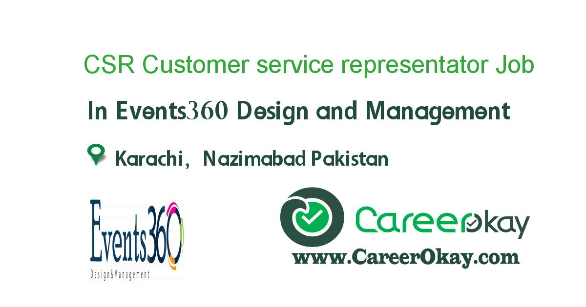 CSR Customer service representator