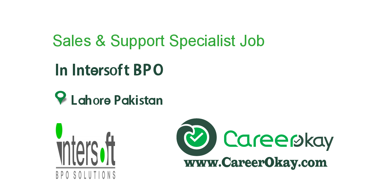 Sales & Support Specialist